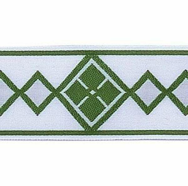 Imagen de Borde Rombos H. cm 5 (2,0 inch) mezcla Algodón Verde Brillante Habana Brillante Rojo Brillante Morado Brillante Ribete para Vestiduras litúrgicas