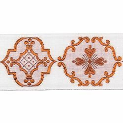 Picture of Trim Gold Giotto H. cm 5 (2,0 inch) Cotton blend Brilliant Green Brilliant Havana Brilliant Red Brilliant Violet Border Braid Passementerie for liturgical Vestments