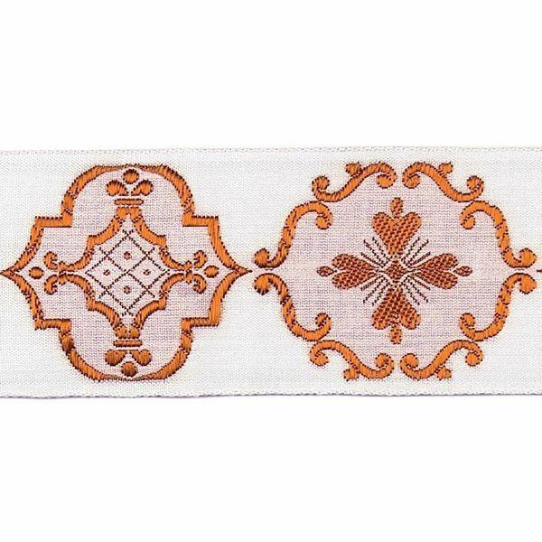 Imagen de Borde oro Giotto H. cm 5 (2,0 inch) mezcla Algodón Verde Brillante Habana Brillante Rojo Brillante Morado Brillante Ribete para Vestiduras litúrgicas