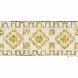 Picture of Trim Gold geometric H. cm 3 (1,2 inch) Cotton blend Border Braid Passementerie for liturgical Vestments