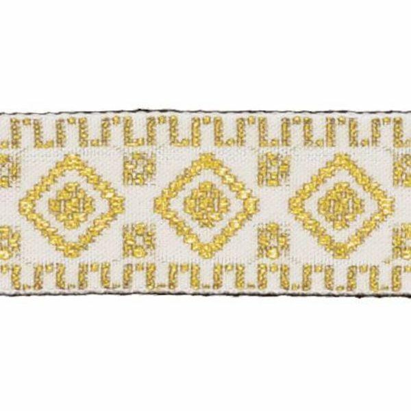 Picture of Trim Gold geometric H. cm 3 (1,2 inch) Cotton blend Border Braid Passementerie for liturgical Vestments