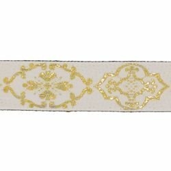Picture of Trim Gold Giotto H. cm 3 (1,2 inch) Cotton blend Border Braid Passementerie for liturgical Vestments