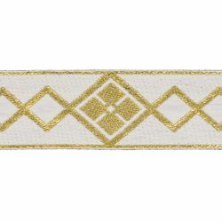 Picture of Trim Gold Rhombus H. cm 5 (2,0 inch) Cotton blend Border Braid Passementerie for liturgical Vestments