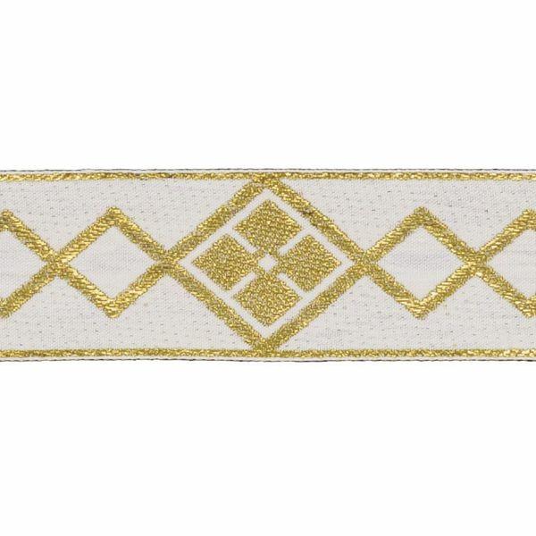 Picture of Trim Gold Rhombus H. cm 5 (2,0 inch) Cotton blend Border Braid Passementerie for liturgical Vestments