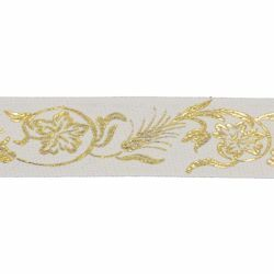 Picture of Trim Gold Eears of Corn H. cm 5 (2,0 inch) Cotton blend Border Braid Passementerie for liturgical Vestments