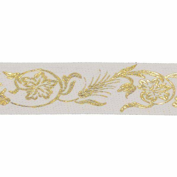 Immagine di Bordo oro Spighe di Grano H. cm 5 (2,0 inch) misto Cotone Orlo Passamaneria per Paramenti Sacri