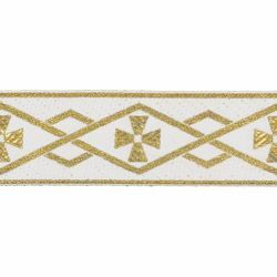 Picture of Trim Gold Geometric H. cm 5 (2,0 inch) Cotton blend Border Braid Passementerie for liturgical Vestments