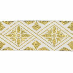 Picture of Trim Gold Flower H. cm 5 (2,0 inch) Cotton blend Border Braid Passementerie for liturgical Vestments