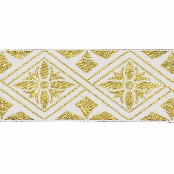 Picture of Trim Gold Flower H. cm 5 (2,0 inch) Cotton blend Border Braid Passementerie for liturgical Vestments