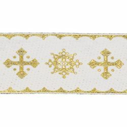 Picture of Trim Gold Crosses H. cm 5 (2,0 inch) Cotton blend Border Braid Passementerie for liturgical Vestments