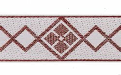 Picture of Trim Red dots H. cm 5 (2,0 inch) Cotton blend Brilliant Red Border Braid Passementerie for liturgical Vestments