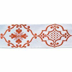 Picture of Red Trim Bernardette H. cm 5 (2,0 inch) Cotton blend Brilliant Red Border Braid Passementerie for liturgical Vestments