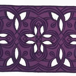 Picture of Lace H. cm 16 (6,3 inch) Viscose and Polyester Red Olive Green Violet Lacework Edging for liturgical Vestments