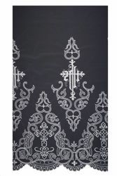 Picture of Tulle Lace JHS & Cross H. cm 70 (27,6 inch) Viscose and Polyester White Lacework Edging for liturgical Vestments