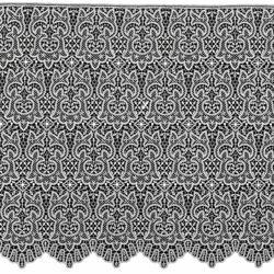 Picture of Fillet Dot Lace macramè H. cm 70 (27,6 inch) Viscose and Polyester White Lacework Edging for liturgical Vestments