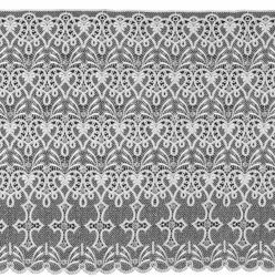Picture of Macramè Lace Cross H. cm 60 (23,6 inch) Viscose and Polyester White Lacework Edging for liturgical Vestments