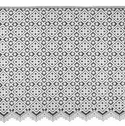 Picture of Macramè Lace Cross Rhomb H. cm 60 (23,6 inch) Viscose and Polyester White Lacework Edging for liturgical Vestments