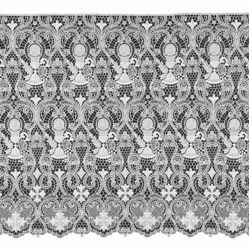 Picture of Macramè Lace Chalice H. cm 55 (21,7 inch) Viscose and Polyester White Lacework Edging for liturgical Vestments