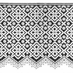 Picture of Macramè Lace Cross Rhomb H. cm 30 (12 inch) Viscose and Polyester White Lacework Edging for liturgical Vestments