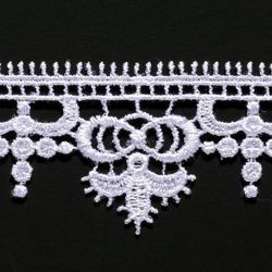 Picture of Macramè Lace H. cm 3 (1,2 inch) Viscose and Polyester White Lacework Edging for liturgical Vestments