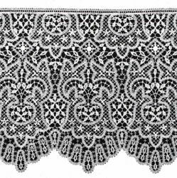 Picture of Fillet Dot Lace macramè H. cm 25 (9,8 inch) Viscose and Polyester White Lacework Edging for liturgical Vestments