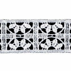 Picture of Macramè Lace Cross H. cm 2,3 (0,9 inch) Viscose and Polyester White Lacework Edging for liturgical Vestments