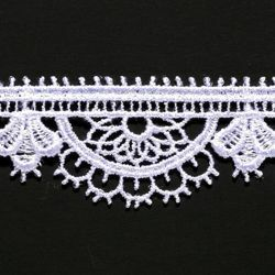 Picture of Macramè Lace H. cm 2,3 (0,9 inch) Viscose and Polyester White Lacework Edging for liturgical Vestments