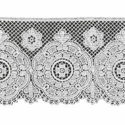 Picture of Macramè Lace Rosette H. cm 16 (6,3 inch) Viscose and Polyester White Lacework Edging for liturgical Vestments