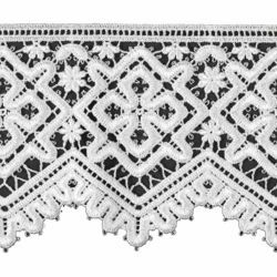 Picture of Crochet Macramè Lace Cross Rhomb H. cm 12 (4,7 inch) Viscose and Polyester White Lacework Edging for liturgical Vestments