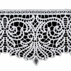 Picture of Macramè Lace Floral H. cm 10 (3,9 inch) Viscose and Polyester White Lacework Edging for liturgical Vestments