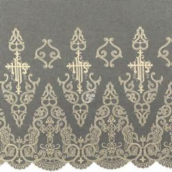 Picture of Marquisette Lace H. cm 70 (27,6 inch) Pure Cotton Ivory White Lacework Edging for liturgical Vestments