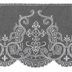 Picture of Marquisette Lace H. cm 25 (9,8 inch) Pure Cotton Ivory White Lacework Edging for liturgical Vestments