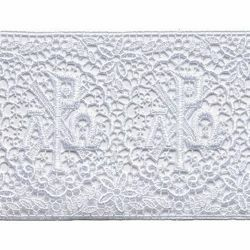 Picture of Lace Crosses H. cm 12 (4,7 inch) Viscose and Polyester Ivory White Lacework Edging for liturgical Vestments