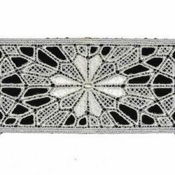 Picture of Macramè Lace Sun H. cm 6 (2,4 inch) Viscose and Polyester Ivory Lacework Edging for liturgical Vestments