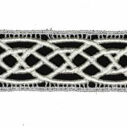 Picture of Macramè Lace Waves H. cm 4 (1,6 inch) Viscose and Polyester Ivory Lacework Edging for liturgical Vestments