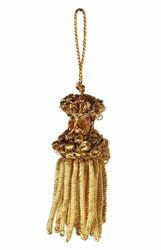 Picture of Bullion Tassel Gold cm 6 (2,4 inch) Metallic thread and Viscose for liturgical Vestments