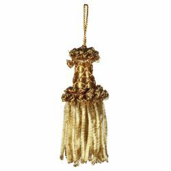 Picture of Bullion Tassel Gold cm 8 (3,1 inch) Metallic thread and Viscose for liturgical Vestments