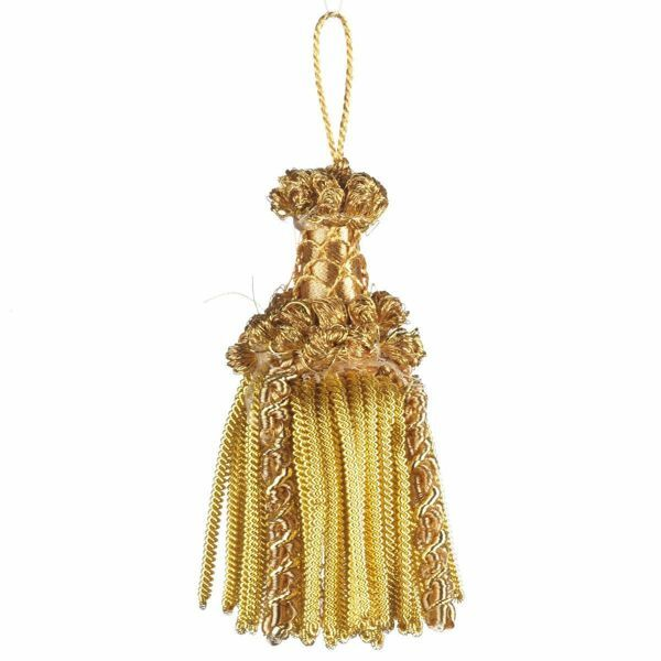 Picture of Bullion Tassel gold special inox cm 10 (3,9 inch) Metallic thread and Viscose for liturgical Vestments