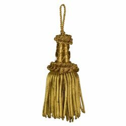 Picture of Bullion Tassel Gold cm 12 (4,7 inch) Metallic thread and Viscose for liturgical Vestments