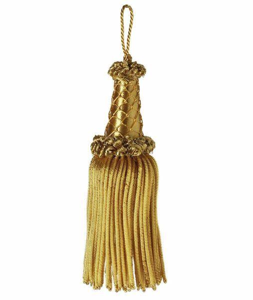 Imagen de Borla de Canutilho oro inox especial cm 16 (6,3 inch) en hilo metálico y Viscosa para Vestiduras litúrgicas