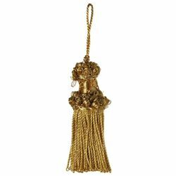 Picture of Twisted Tassel gold cm 6 (2,4 inch) Metallic thread and Viscose for liturgical Vestments