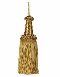Picture of Twisted Tassel gold cm 16 (6,3 inch) Metallic thread and Viscose for liturgical Vestments