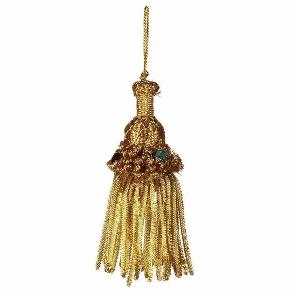 Imagen de Borla de Canutilho oro cm 9 (3,5 inch) en hilo metálico y Viscosa para Vestiduras litúrgicas