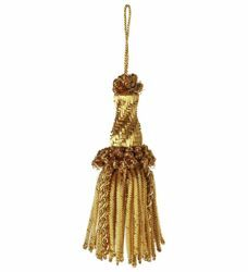 Picture of Tassel with Bullion helix cm 10 (3,9 inch) Metallic thread and Viscose for liturgical Vestments