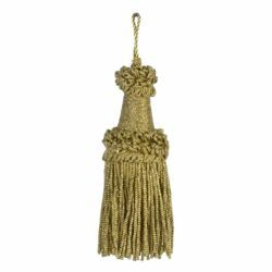 Picture of Tripolin Knot Wood Tassel gold cm 10 (3,9 inch) Polyester and Viscose for liturgical Vestments
