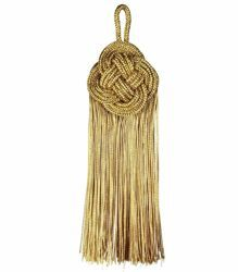 Picture of Twisted Tassel gold cm 14 (5,5 inch) Metallic thread and Viscose for Cope Pluviale and liturgical Vestments
