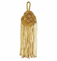 Picture of Bullion Tassel Gold cm 14 (5,5 inch) Metallic thread and Viscose for Cope Pluviale and liturgical Vestments