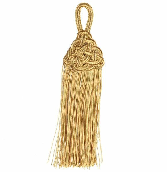 Picture of Tassel gold cm 14 (5,5 inch) Metallic thread and Viscose for Cope Pluviale and liturgical Vestments