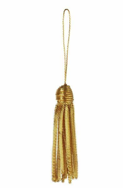 Imagen de Borla de Canutilho Oro cm 6 (2,4 inch) en hilo metálico y Viscosa para Vestiduras litúrgicas