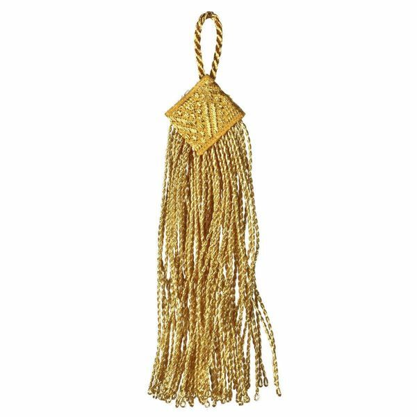 Picture of Square Tassel cm 10 (3,9 inch) Metallic thread and Viscose for liturgical Vestments